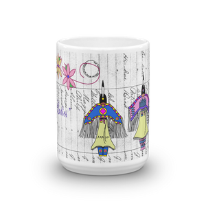 Dancing Ladies Ledger Art Mugs