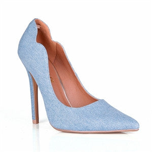 Shop Gigi at CoccaBee Shoes: The perfect denim pump for comfort and a classic yet modern style