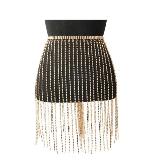 Fringe Sparkle Skirt