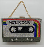 """I Love the 80's"" Bling Clutch"