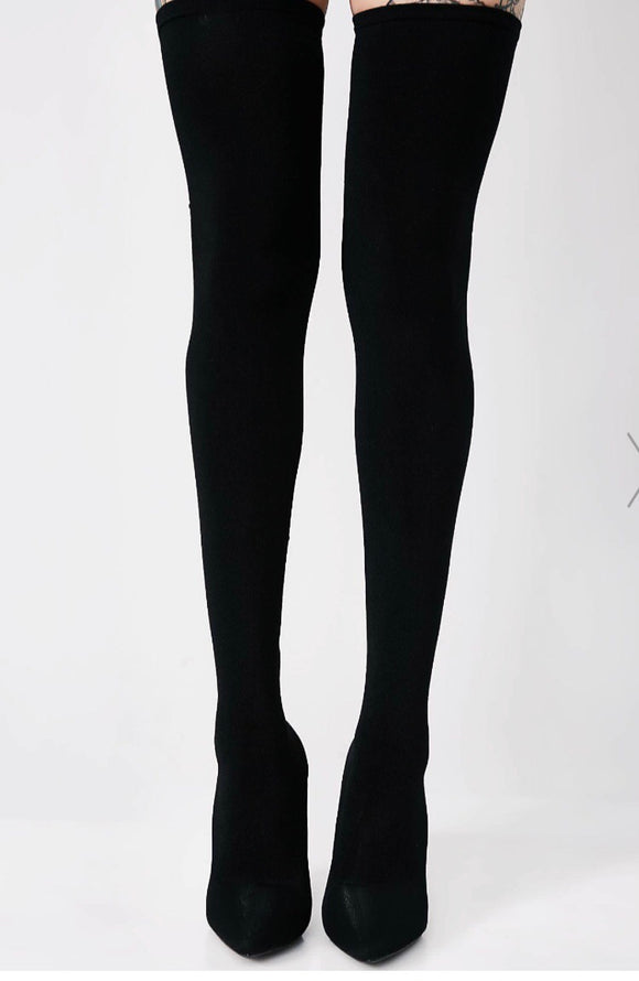 Shop CoccaBee: Boots and Booties: Black Thigh High Boots