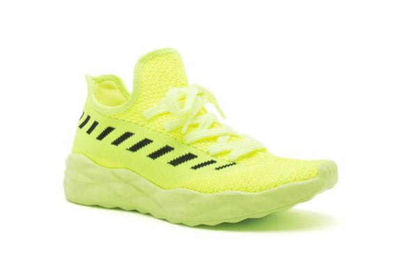 Shop neon yellow trainer sneakers at Cocca Bee Shoes