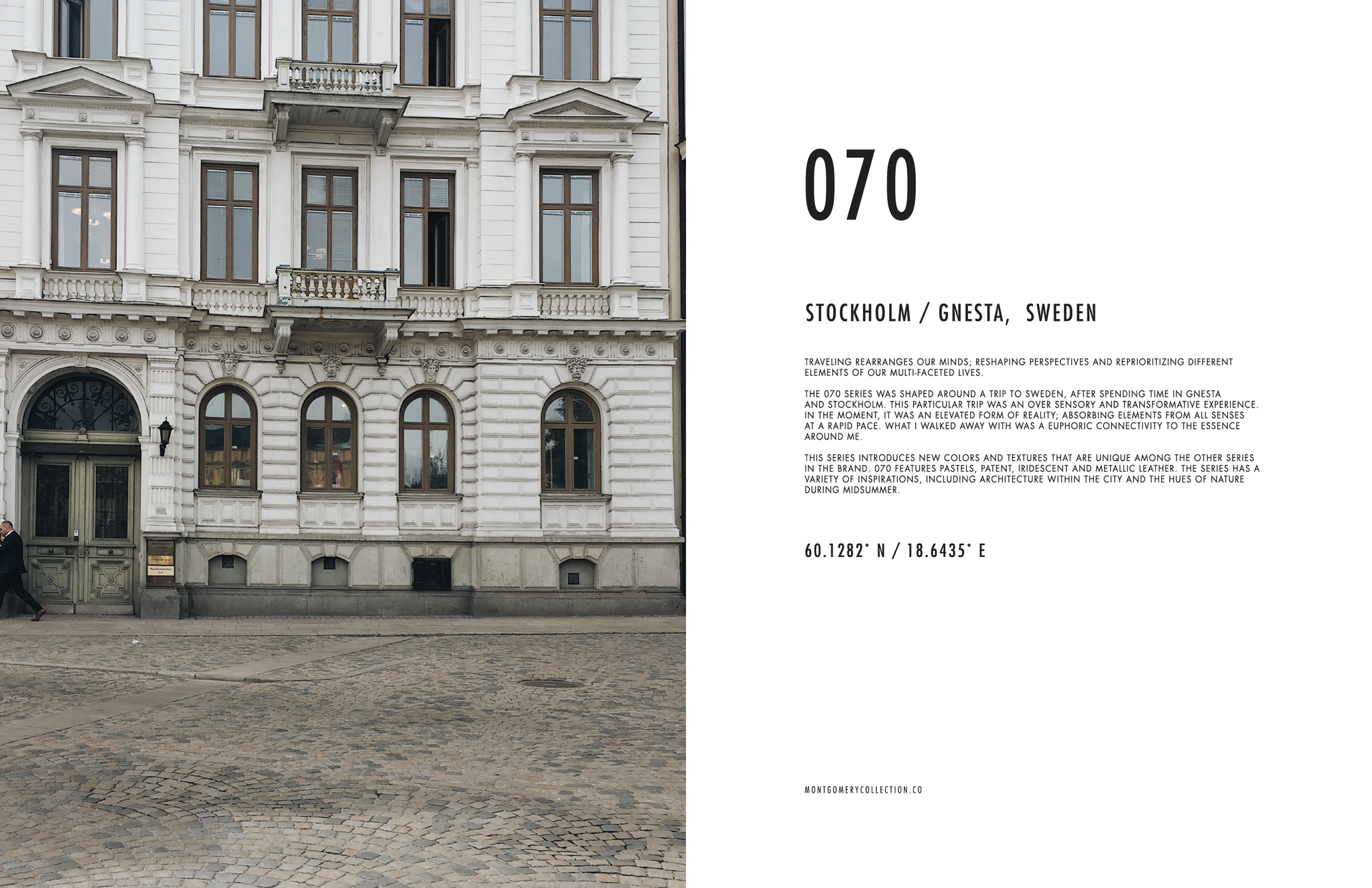 MONTGOMERY COLLECTION / SWEDEN LOOKBOOK