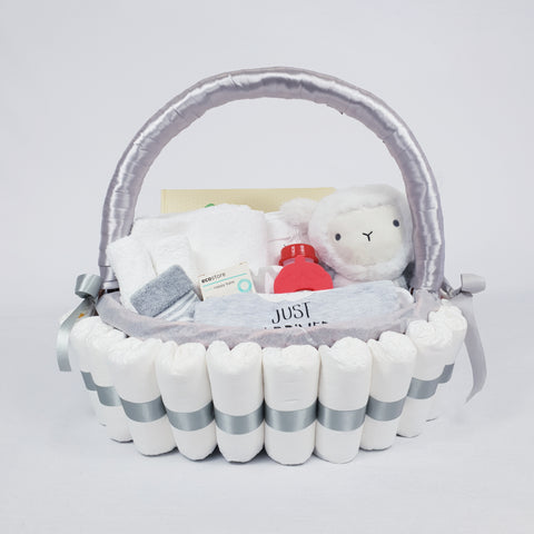'Baby Bundle' Classic Gift Hamper Grey