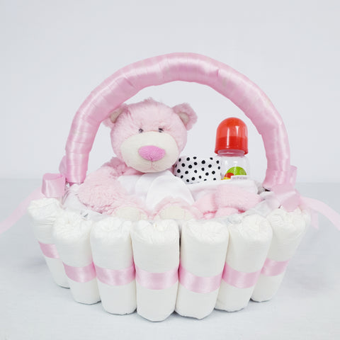 'Welcome Baby' Classic Gift Hamper Pink