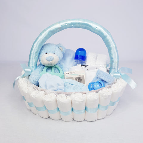 'Hello Baby' Classic Gift Hamper Blue