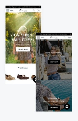 Titleys mobile shopify store