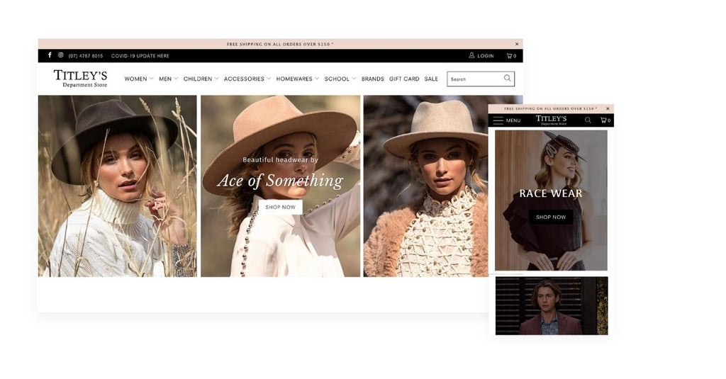 Titleys department shopify store