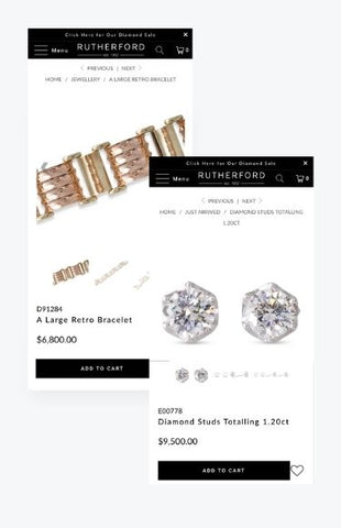 Jewelry mobile shopify store