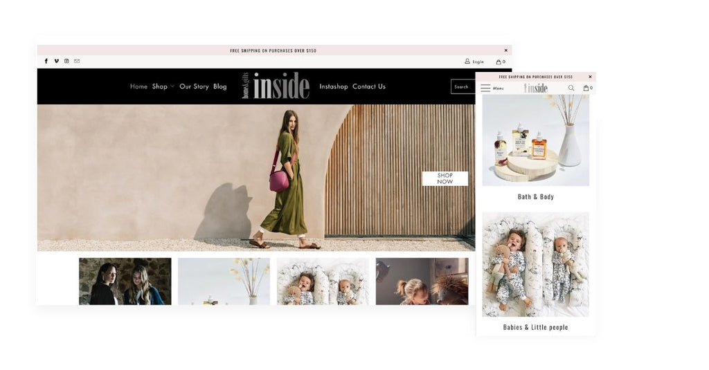 Inside Home & Gifts Shopify store