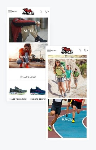 mobile Shopify store