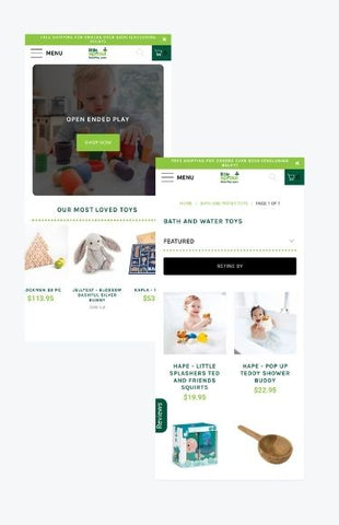 Little sprout mobile Shopify store