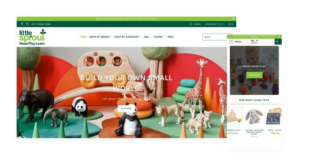 Little sprout Shopify store