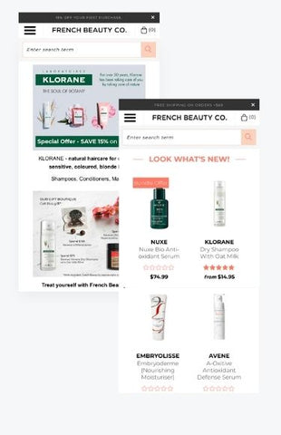 French Beauty Co Shopify store