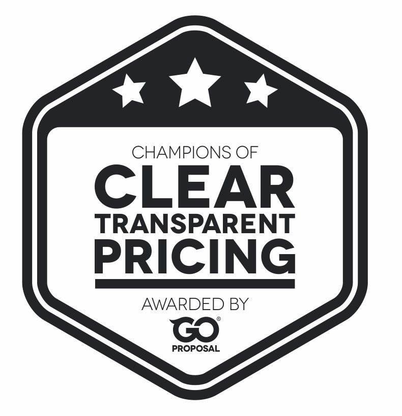 Go Proposal Award: champions of clear transparent pricing