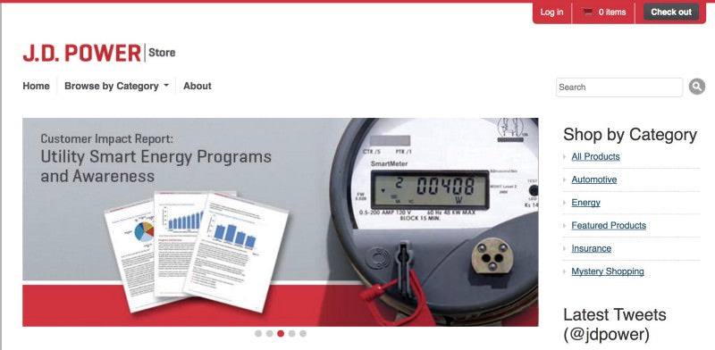 J.D.Power page header with customer impact report