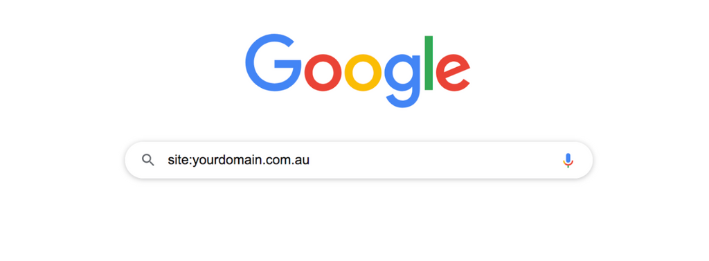 Google search: yourdomain.com.au