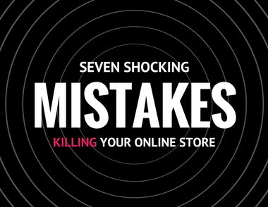 Use The Hope Factory's 'Seven Shocking Mistakes Killing Your Online Store' to fix some of the most common mistakes that people make when running a Shopify store. This is one of our most popular downloads to date. Just enter your email address and click the button that says FREE DOWNLOAD for INSTANT ACCESS.