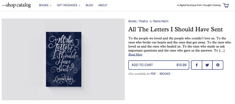 Thought catalog shop All the letters I should have sent book