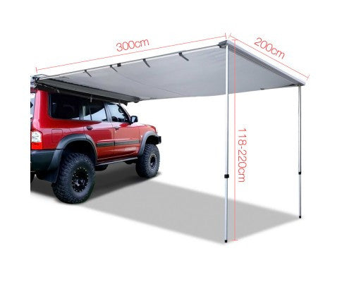Side Roof Car Awning with UV Protection 2.5M X 3M