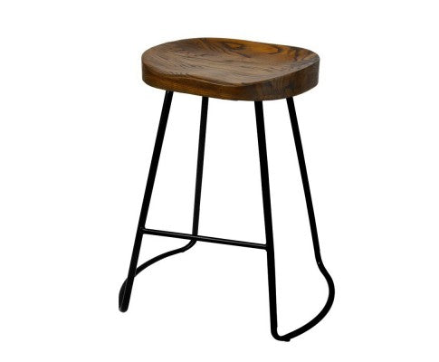 Bar Stools - Set of 2 -  Black Industrial