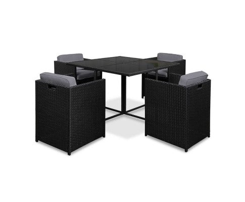 Wicker Dining Set - 5 Piece