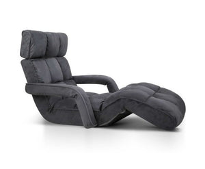 Adjustable Lounger with Arms – Charcoal