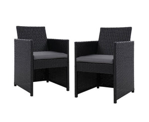 Wicker Dining Chairs x 2