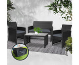 4-piece Rattan Outdoor Setting