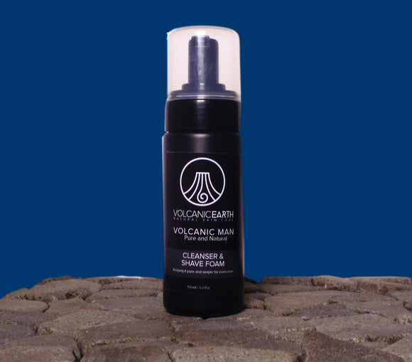 Volcanic Man Cleanser and Shave Foam 150ml