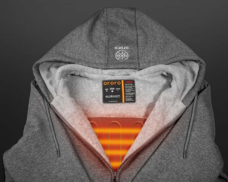 Unisex ORORO Heated Hoodie with Battery Pack