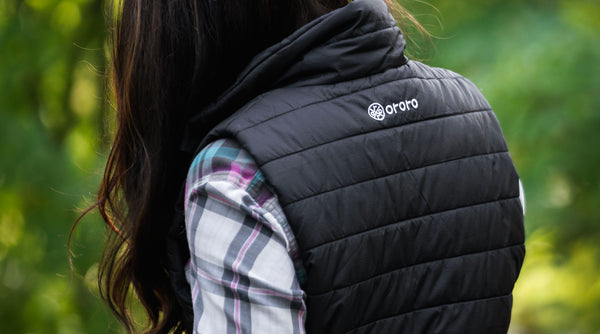 heated padded vest for moms