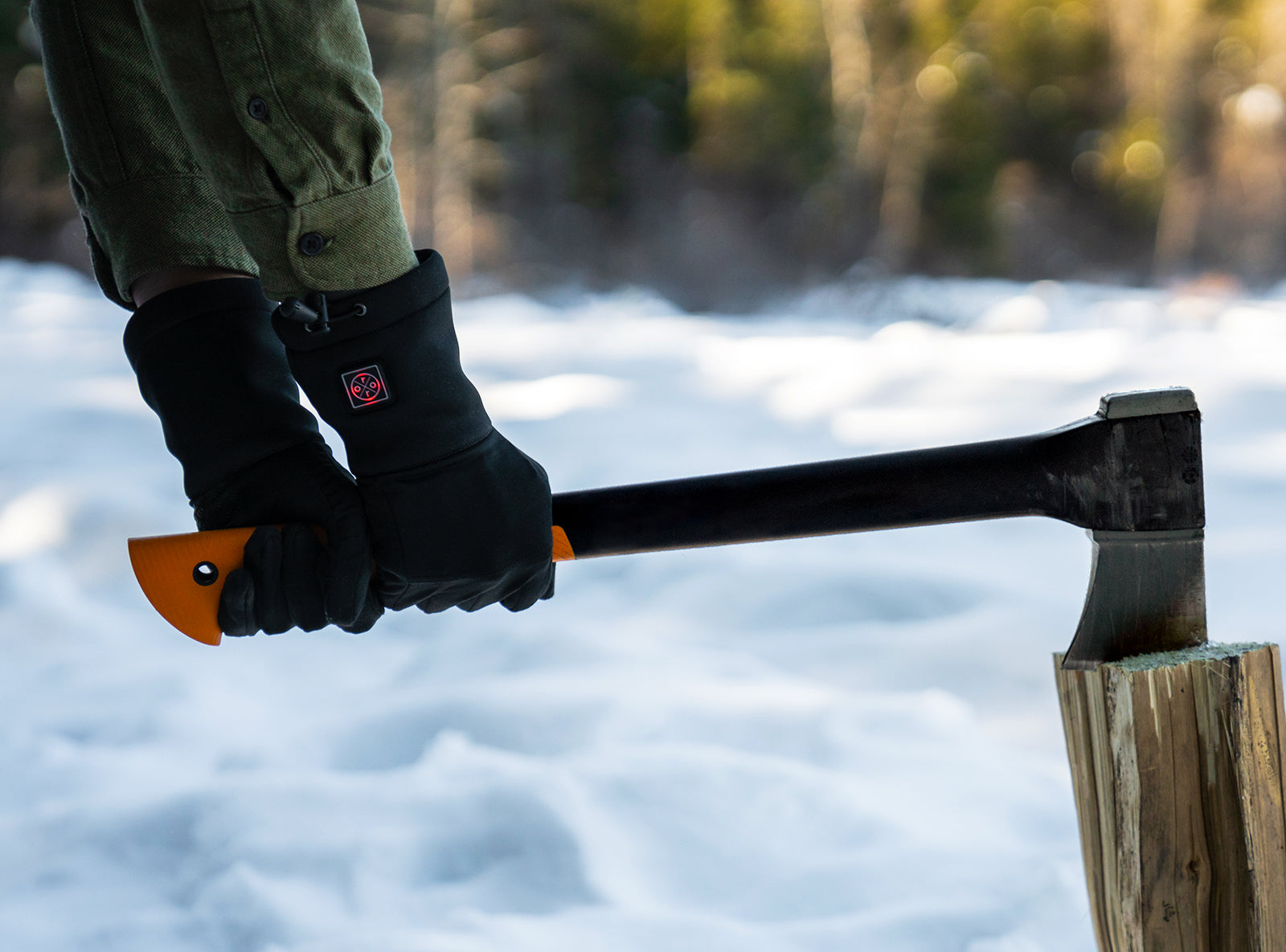 heated gloves for chopping wood
