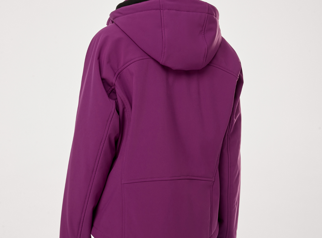 heated jacket in purple for mom