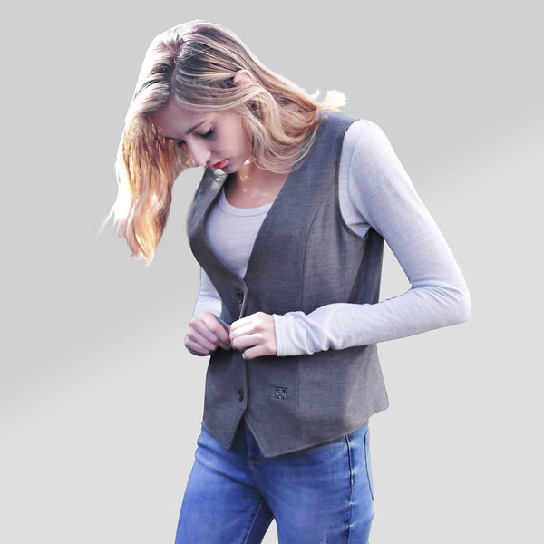 women's heated suit vest - ORORO