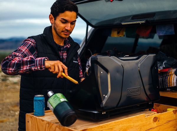 heated vest tailgating grilling outside
