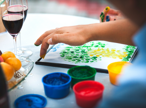 wine and paint at home