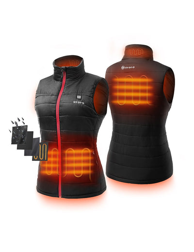 (Open-box) Women Heated Padded Vest - Apparel Only