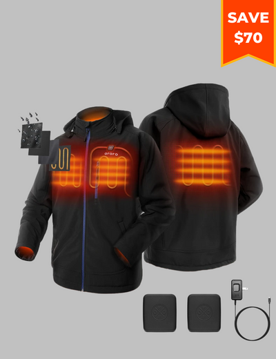 Bundle Deal - Men's Classic Heated Jacket & Extra Battery