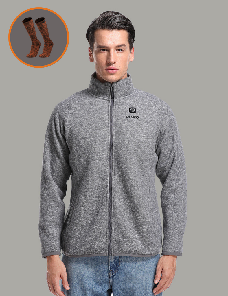 Black Friday Sale - Men's Heated Full-Zip Fleece Jacket