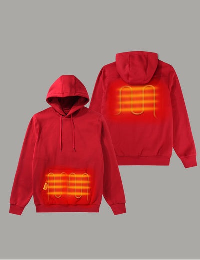 Unisex Heated Pullover Hoodie with Heating on Pocket