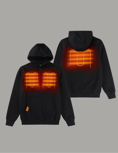 Unisex Heated Pullover Hoodie with Heating on Chests