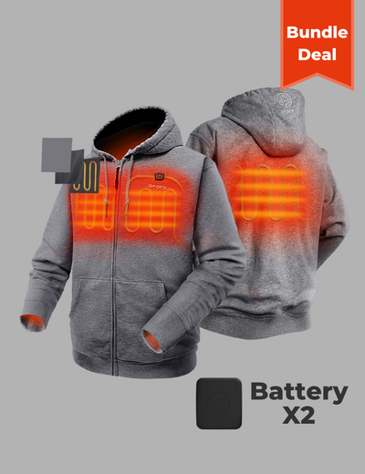 Bundle Deal - Unisex Heated Fleece Hoodie & Extra Battery