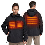 Lightweight Heated Windbreaker Pullover Hoodie- Unisex