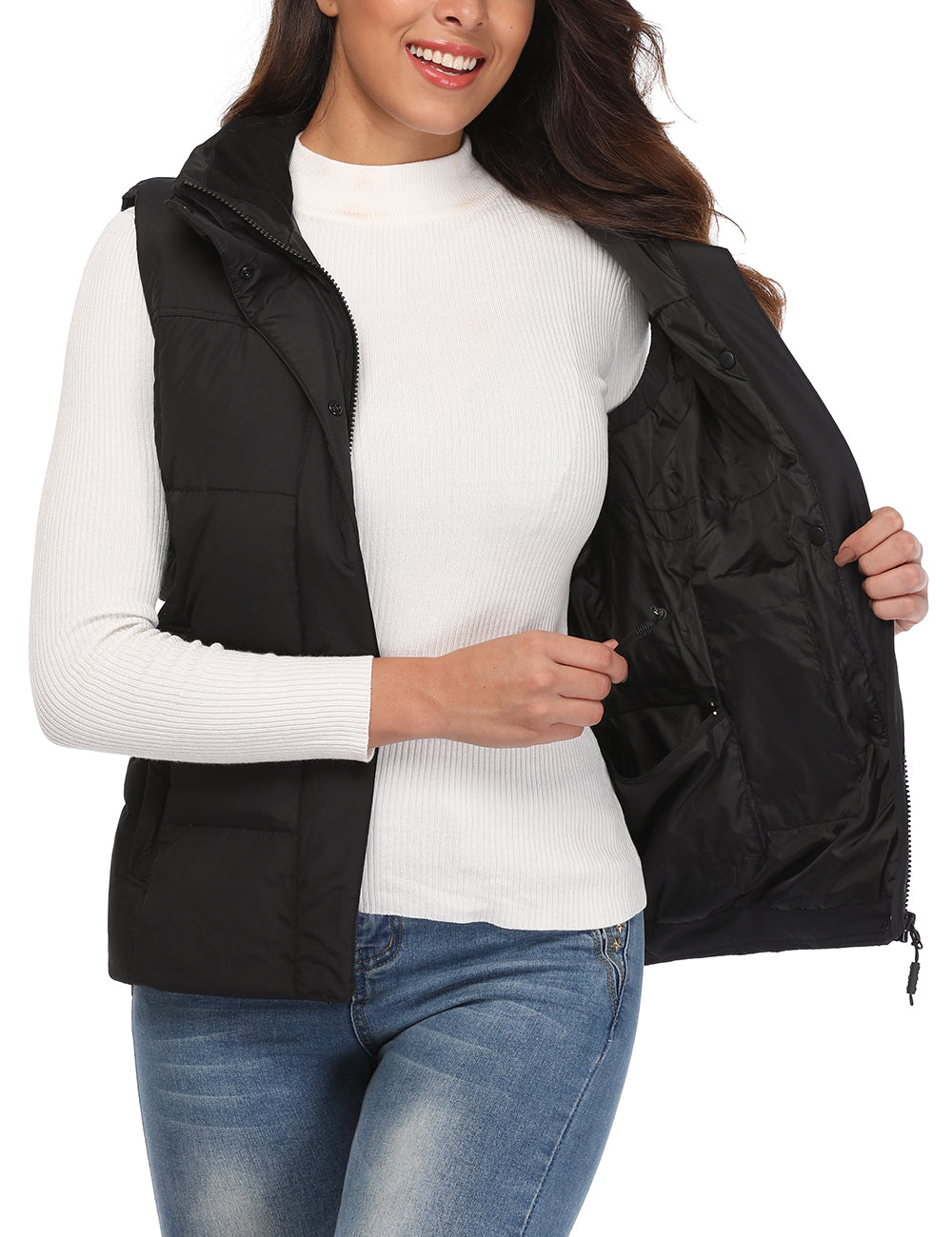 (Open-box) Women Heated Down Vest - Slim Fit - ORORO