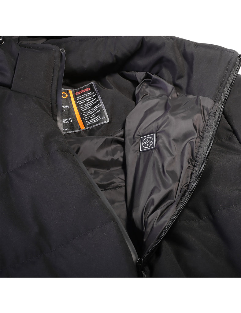 Action Men/'s Padded Vest with Detachable Hood 100/% Polyester Size S-2XL