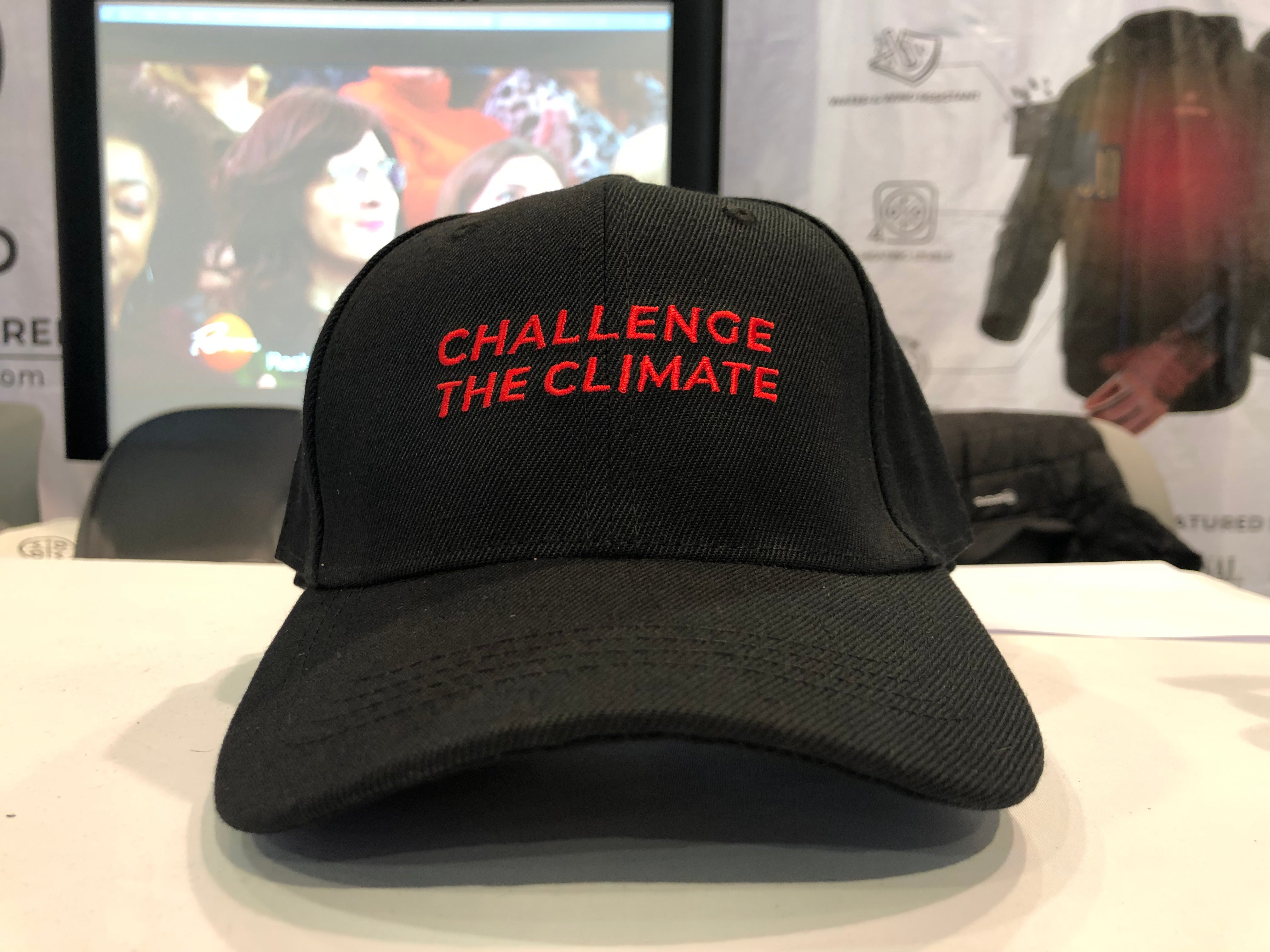 """Challenge the Climate"" Hat - Black - ORORO"