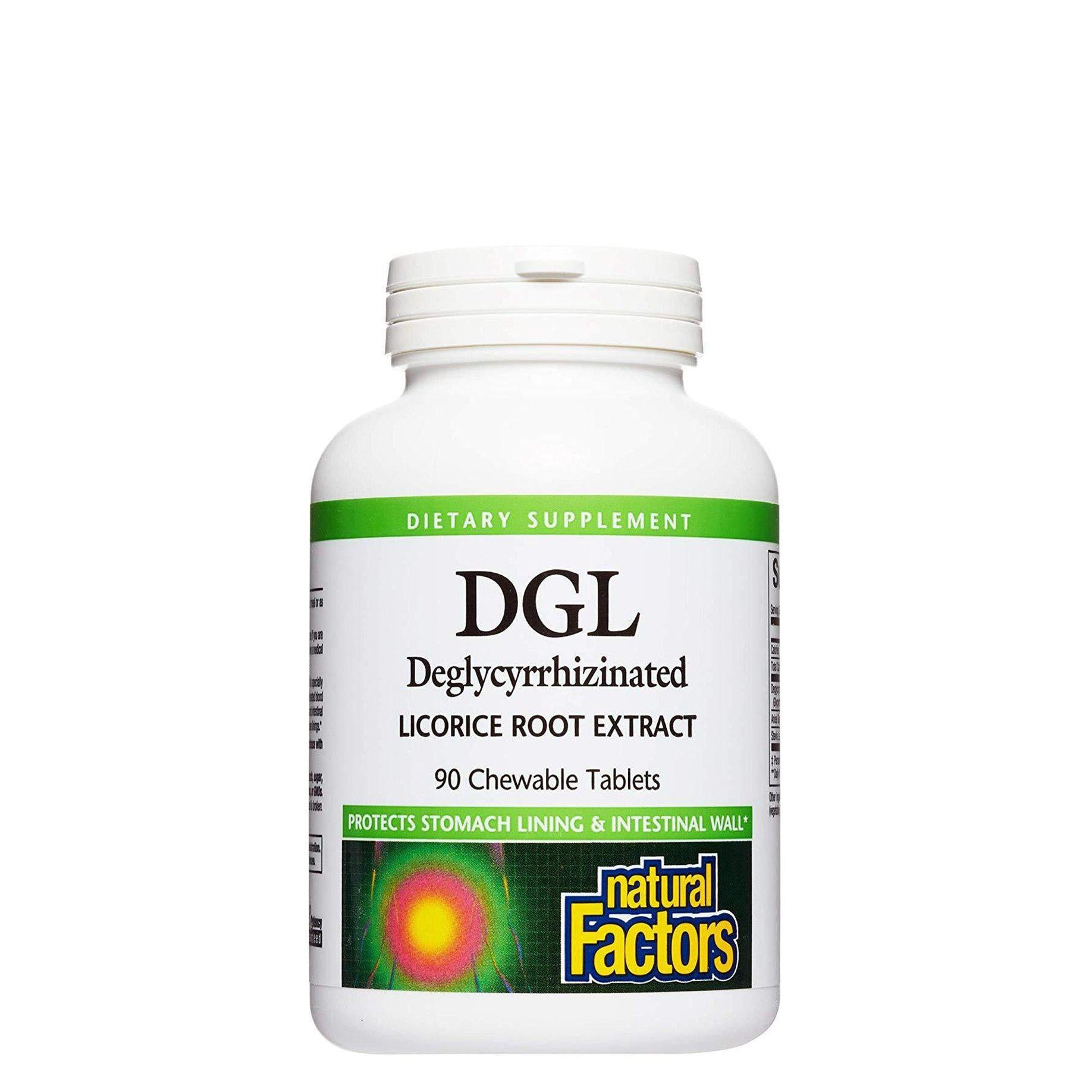 Natural Factors, DGL 400 mg, Deglycyrrhizinated Licorice Root Extract, 90 Chewable Tablets