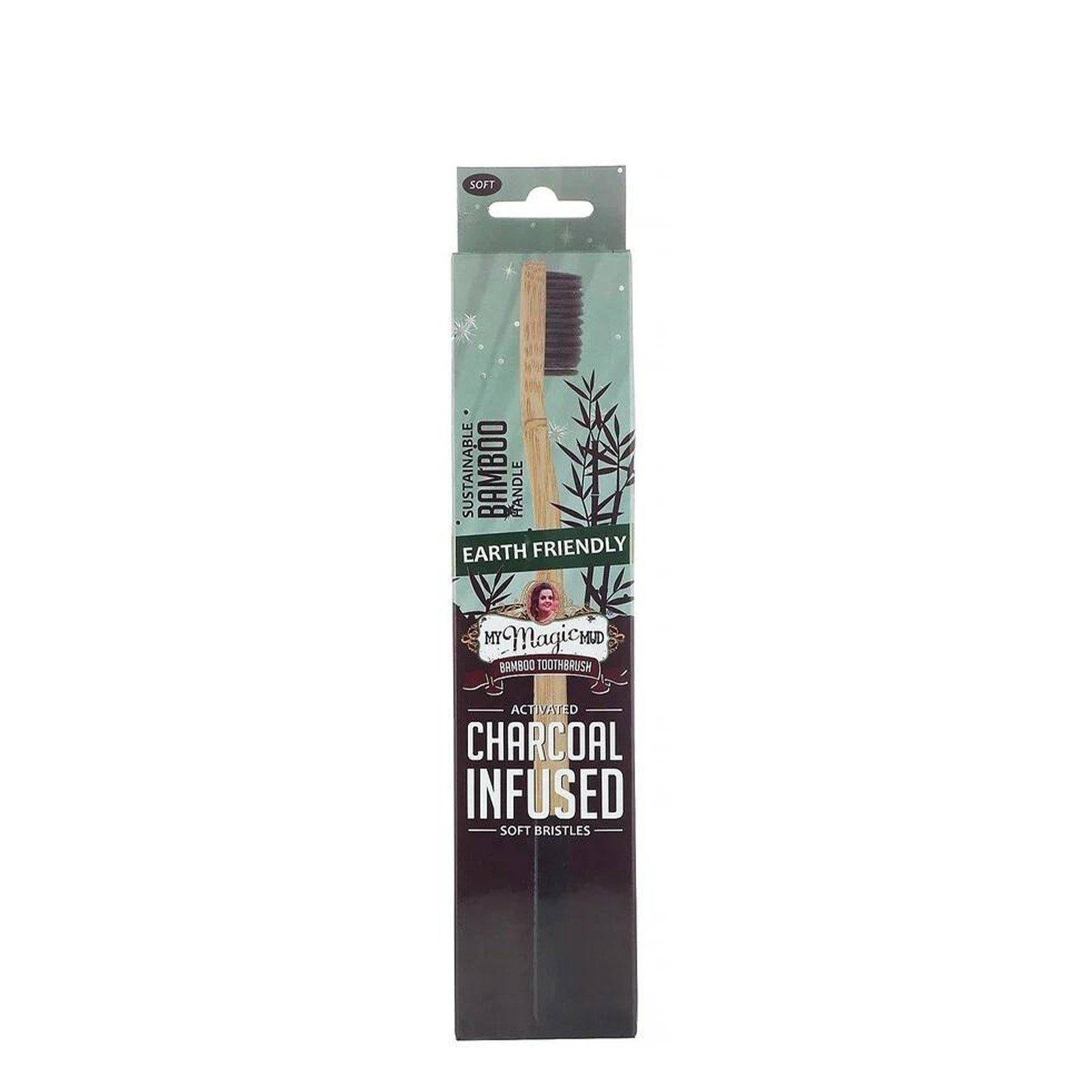 My Magic Mud, Bamboo Toothbrush - Charcoal Infused, 1 piece