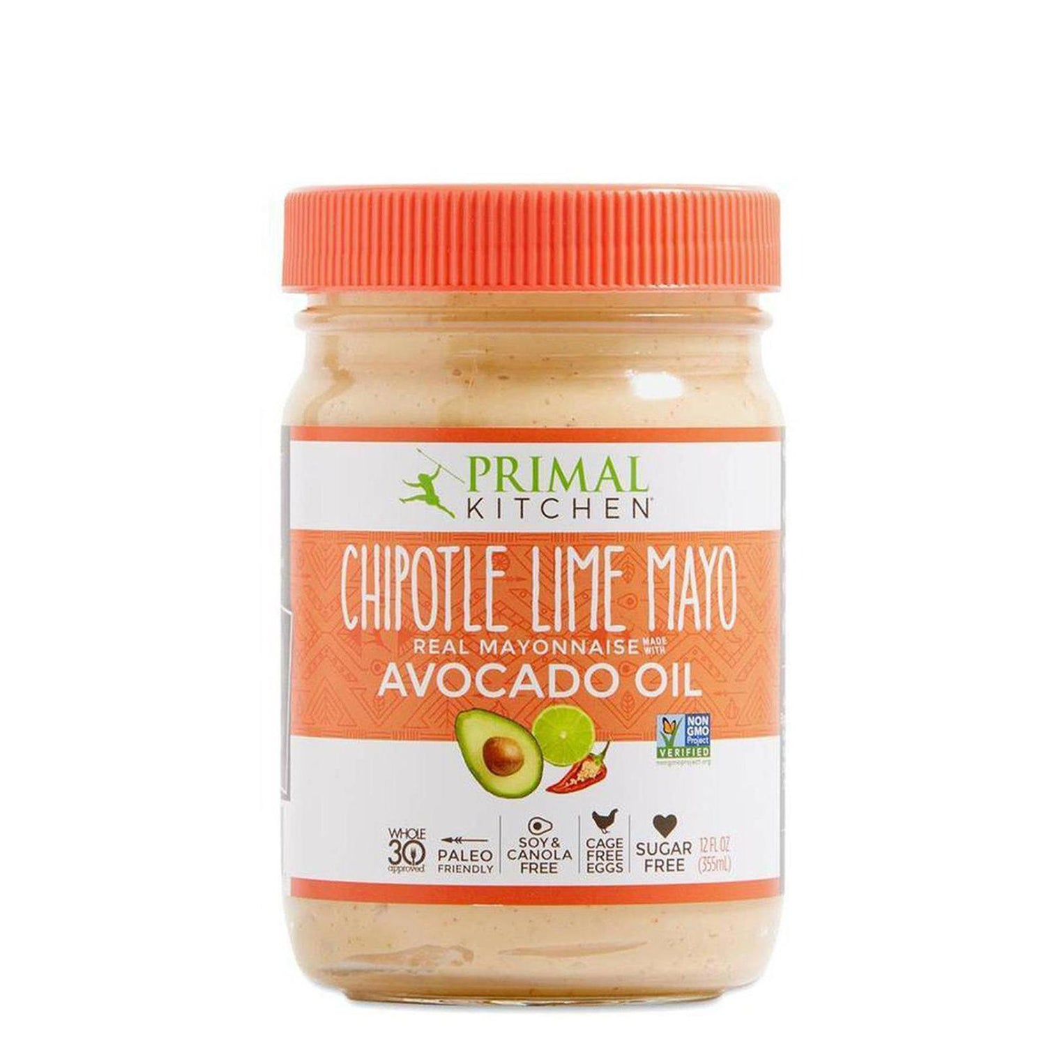 Primal Kitchen Mayonnaise With Avocado Oil Chipotle Lime Mayo 12oz